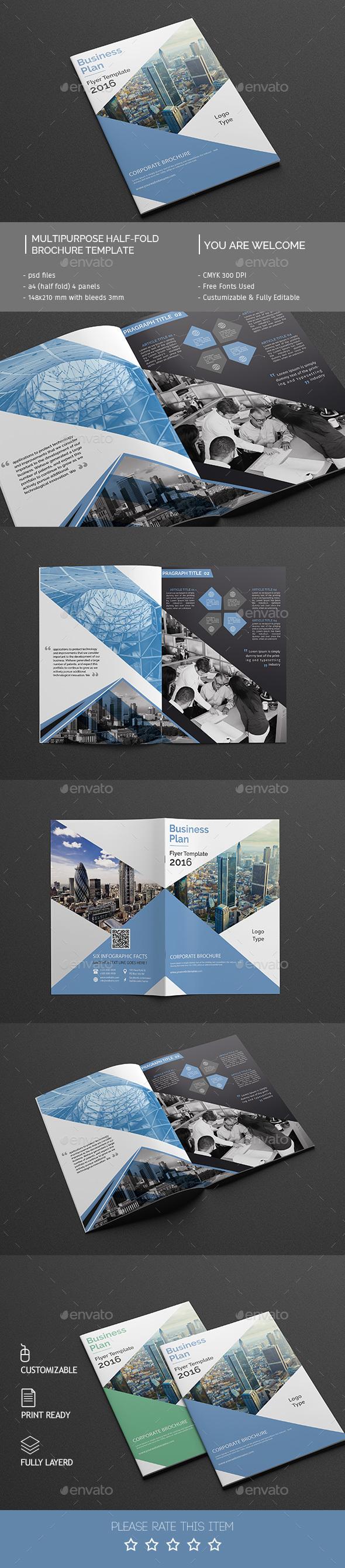 Corporate Bi-fold Brochure Template 03 - Corporate Brochures