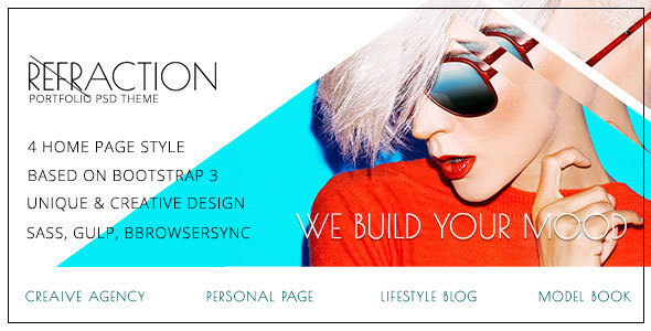 Refraction — Agency, Personal, Lifestyle, Unique & Creative HTML Template