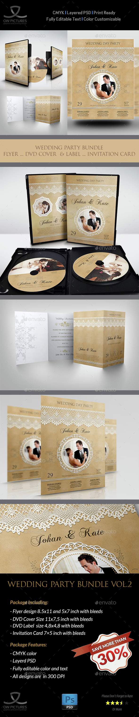 Wedding Party Bundle Vol.3 - Miscellaneous Print Templates