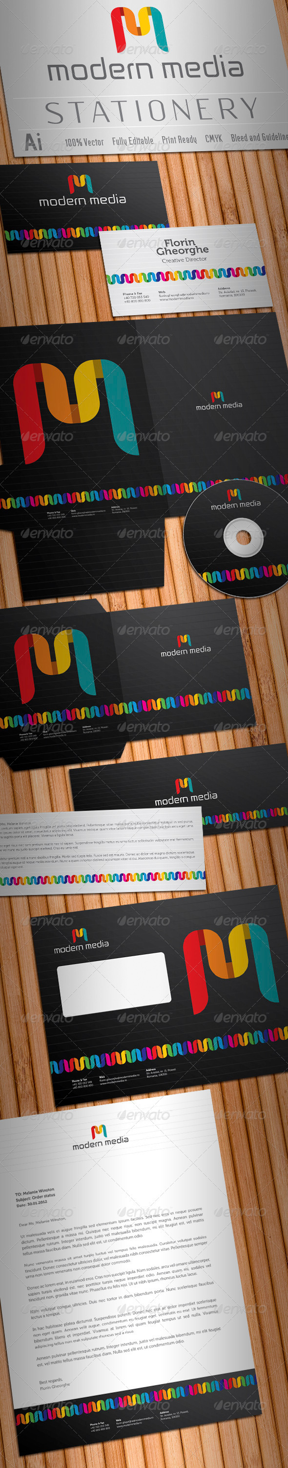 Modern Media Stationery V2 - Stationery Print Templates