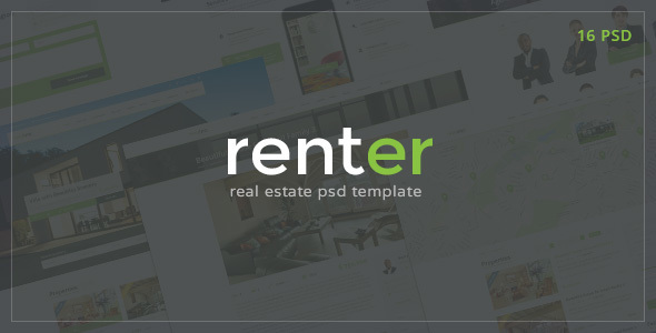 Renter — Rent/Sale Real Estate Agency PSD Template