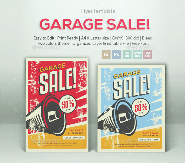 Garage Sale! - Events Flyers