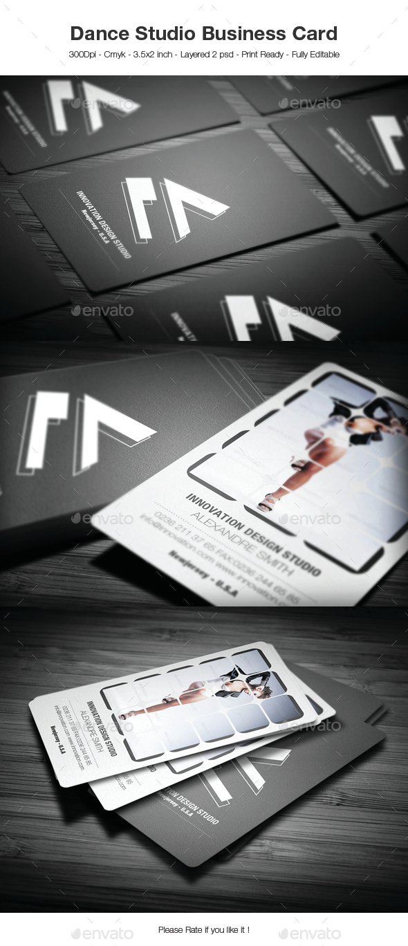 Dance Studio Business Card by 89PixeL | GraphicRiver
