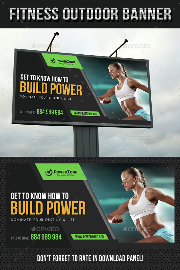 Sport Activity Outdoor Banner - Signage Print Templates