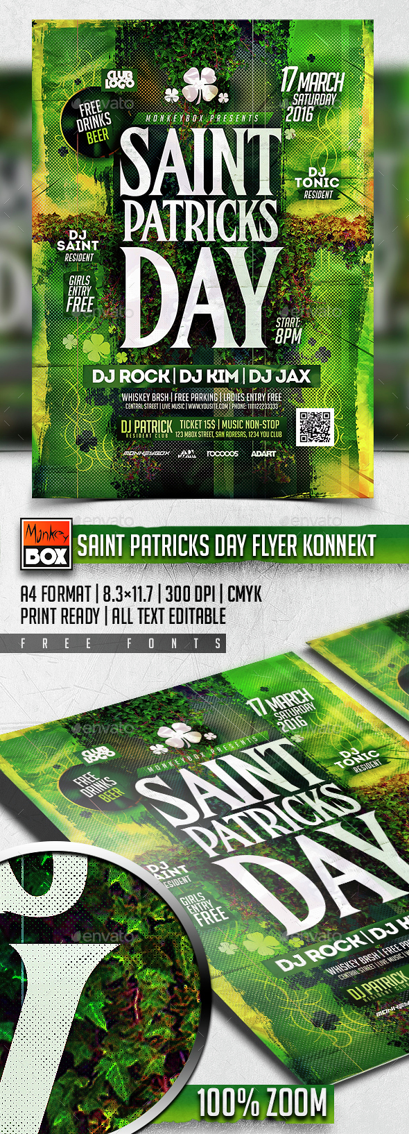 Saint Patricks Day Flyer Konnekt - Holidays Events