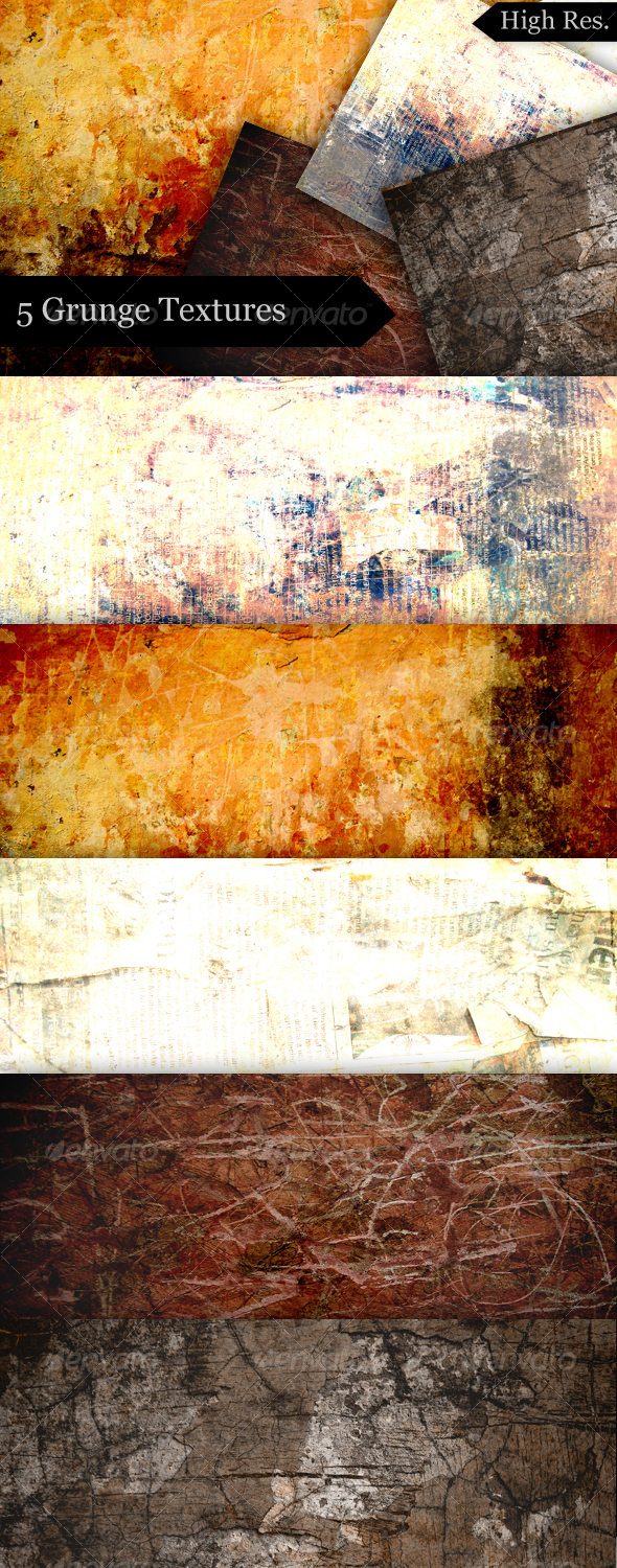 Grunge Portrait Textures For Photographers - Industrial / Grunge Textures