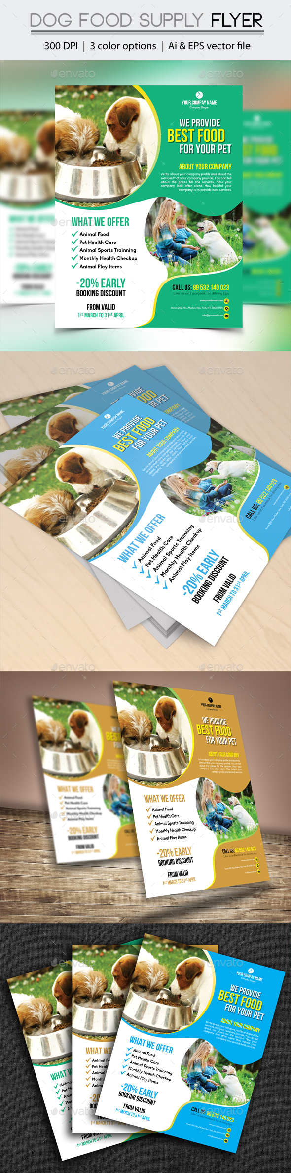 Dog Food Supply Flyer - Flyers Print Templates