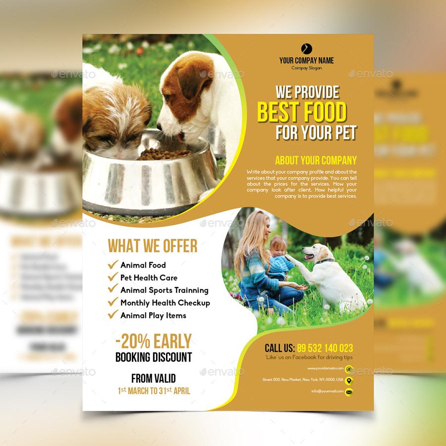 Dog Food Supply Flyer by design_station   GraphicRiver