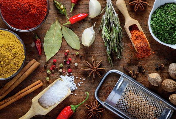 Food Spices, Seasoning and Ingredients - Stock Photo - Images