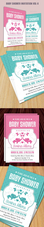 Baby Shower Invitation Vol-II - Invitations Cards & Invites