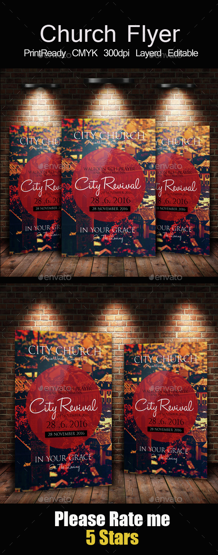 The City Revival Church Flyer - Church Flyers