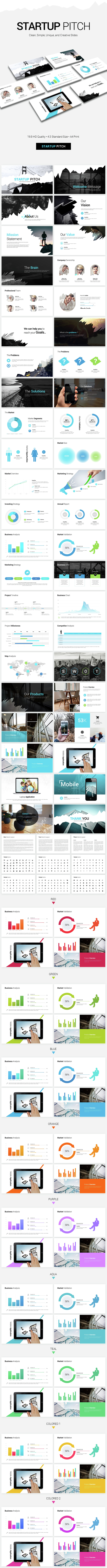 Startup Pitch Presentation - Pitch Deck PowerPoint Templates