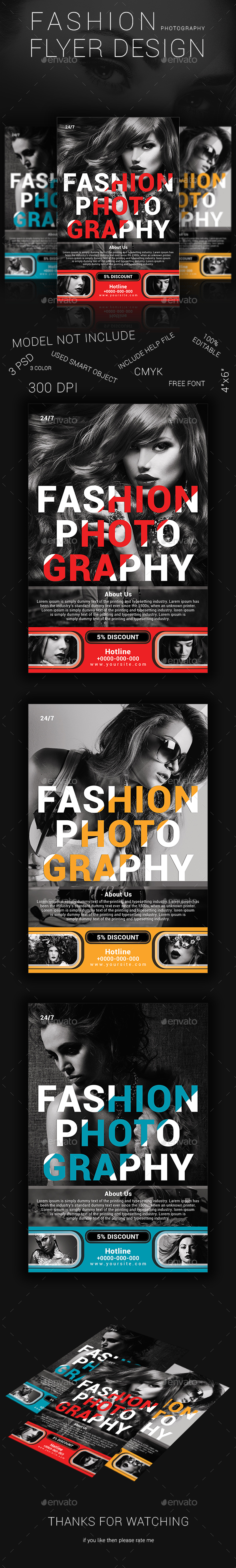 Fashion Photography Flyer Design - Flyers Print Templates