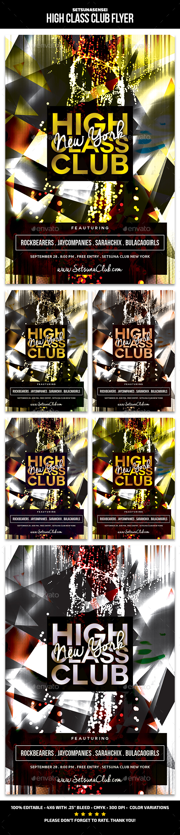High Class Club Flyer - Clubs & Parties Events