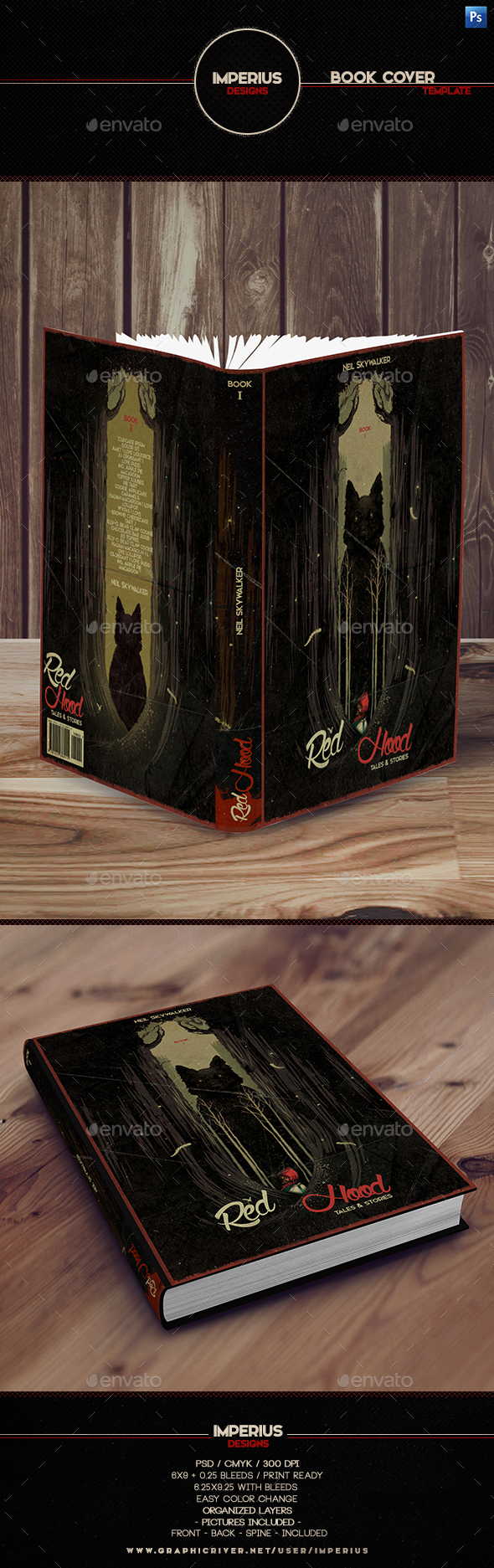 Red Hood Book Cover - Miscellaneous Print Templates