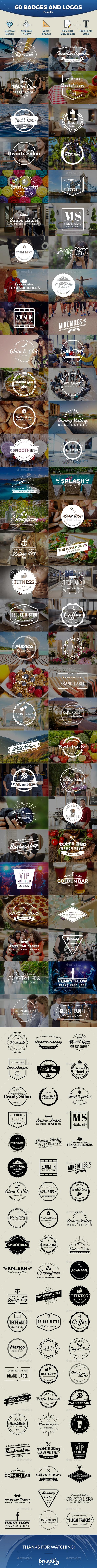 Badges and Logos Bundle - Badges & Stickers Web Elements