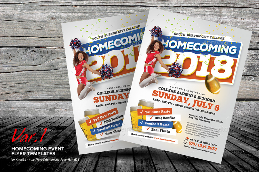Homecoming Event Flyer Templates By Kinzi  Graphicriver