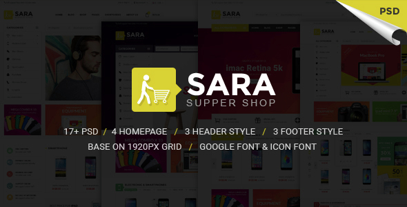 Sarashop – Ecommerce PSD Template