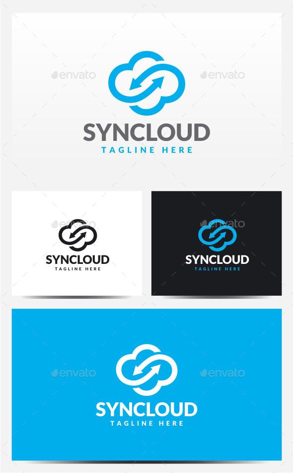 Sync Cloud Logo - Symbols Logo Templates