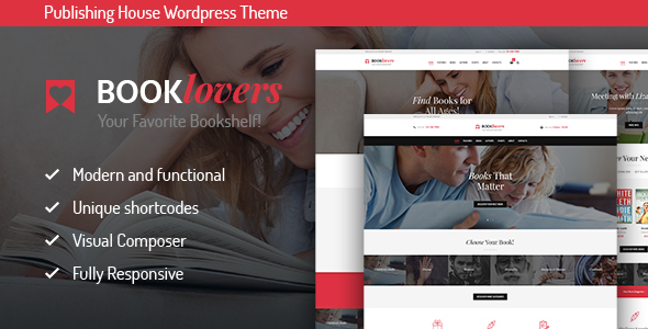 Booklovers – Publishing House & Book Store WordPress Theme