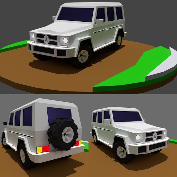 AMG G65 - Low Poly Off Road Vehicle - 3DOcean Item for Sale