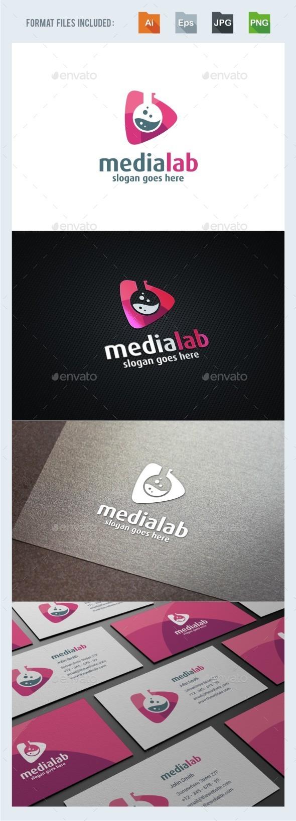 Media Lab Logo Template - Symbols Logo Templates