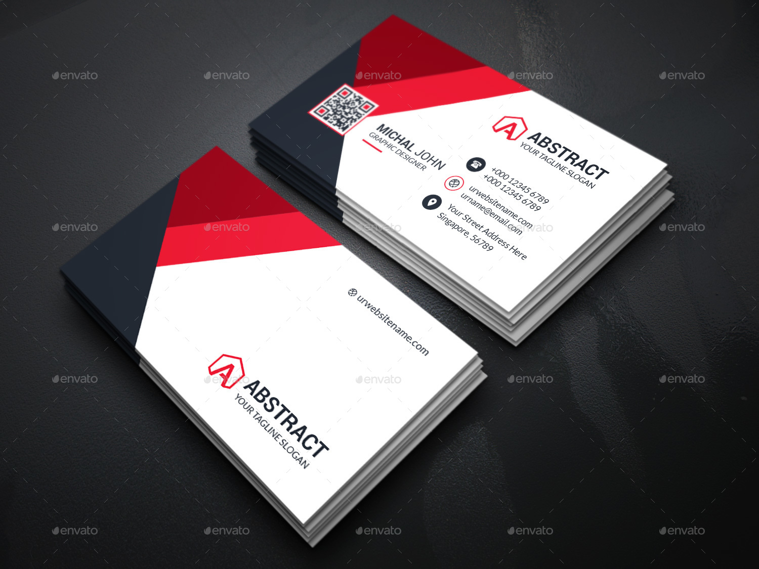 Modern Smart Business Cards Illustration Business Card Ideas
