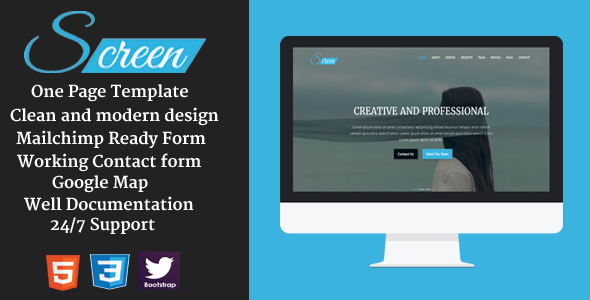 Screen – Creative HTML Template