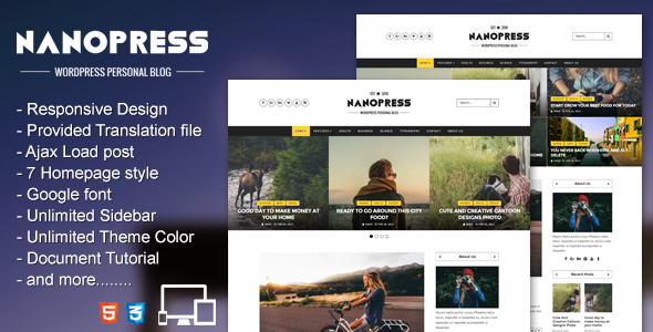 Nanopress – WordPress Responsive Personal Blog