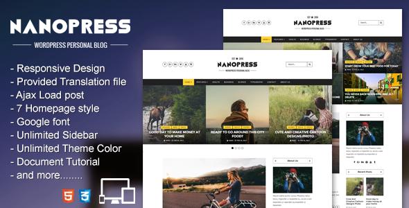 Nanopress - WordPress Responsive Personal Blog
