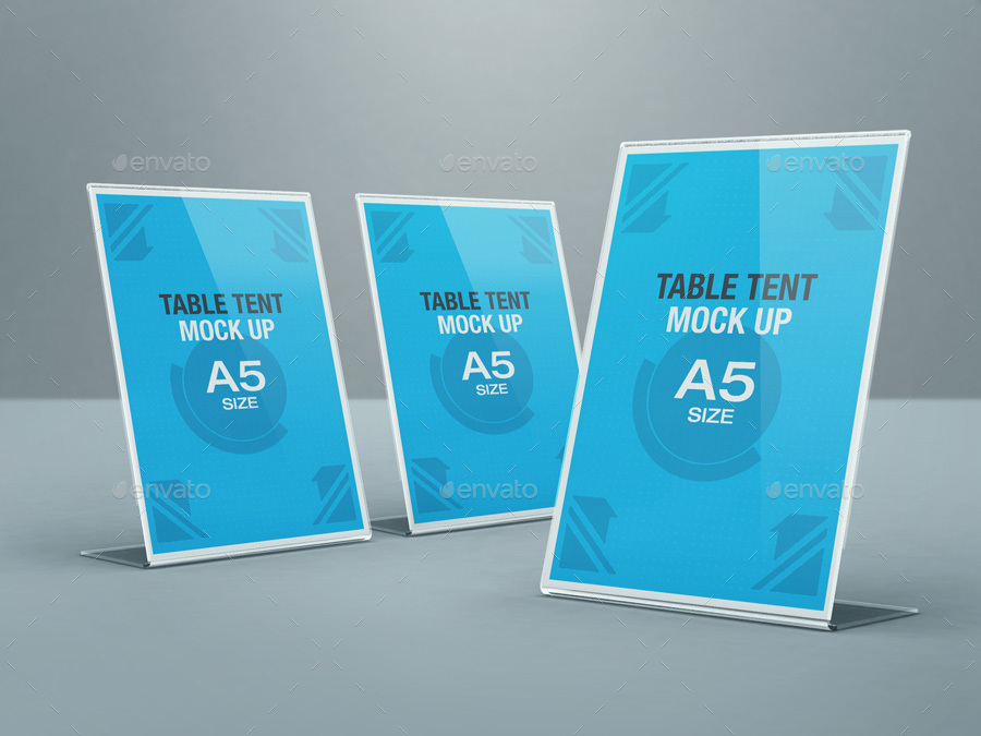 Table Tent Mockup Bundle By Kenoric GraphicRiver - Standard table tent size