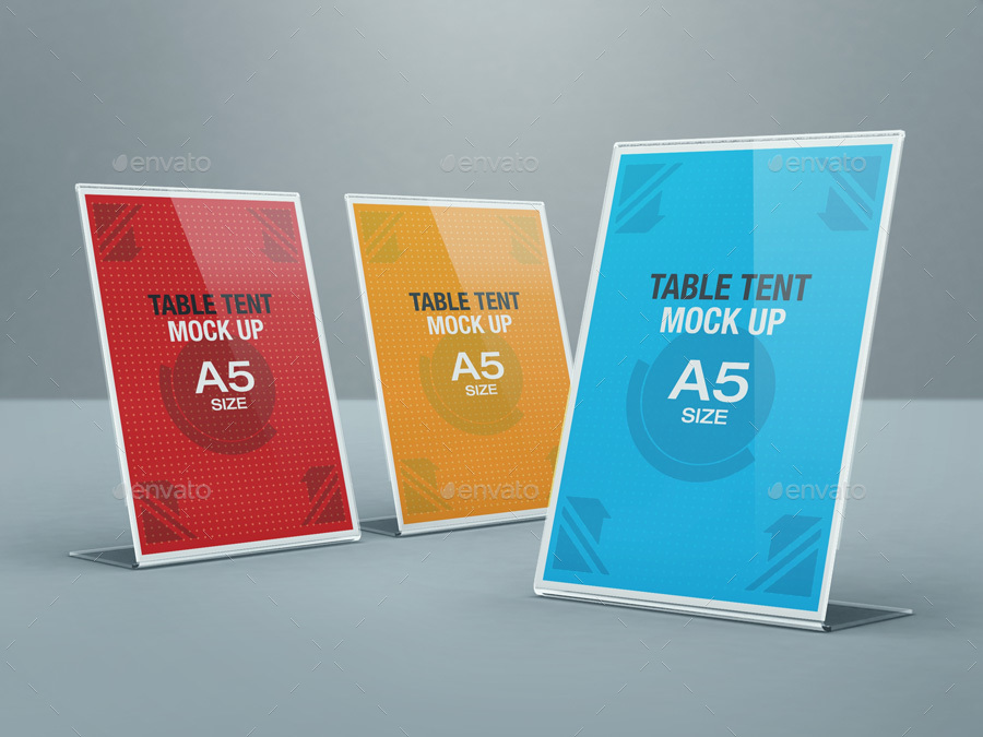 table tent mockup  Table Tent Mock-up Bundle by kenoric | GraphicRiver