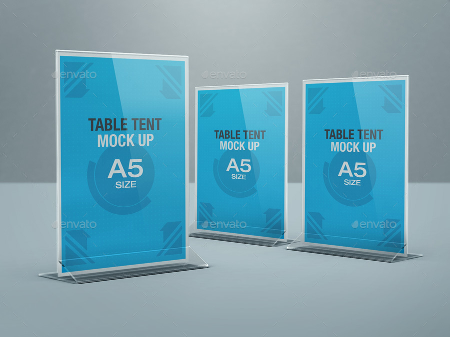 table tent mock up bundle by kenoric graphicriver