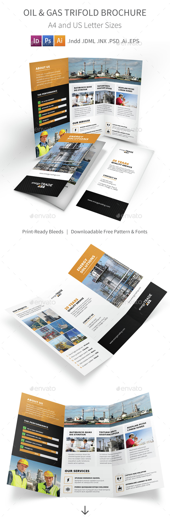 Oil & Gas Trifold Brochure - Corporate Brochures