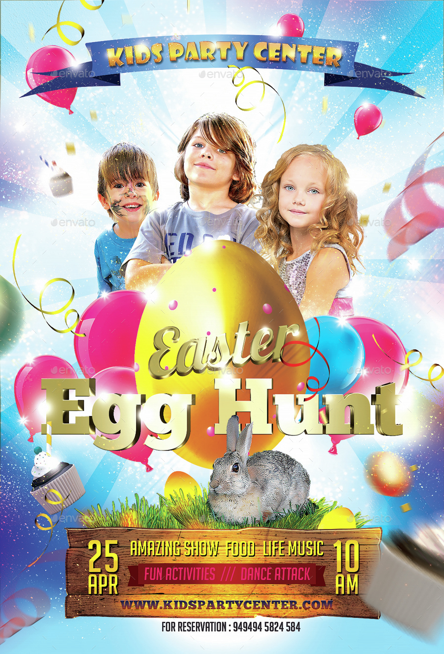 Kids Easter Party Flyer