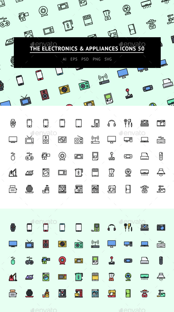 The Electronics & Appliances Icons 50 - Web Icons