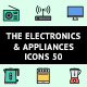 The Electronics & Appliances Icons 50 - GraphicRiver Item for Sale