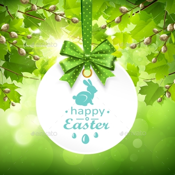 Holiday Banner On Natural Background. Vector - Seasons Nature