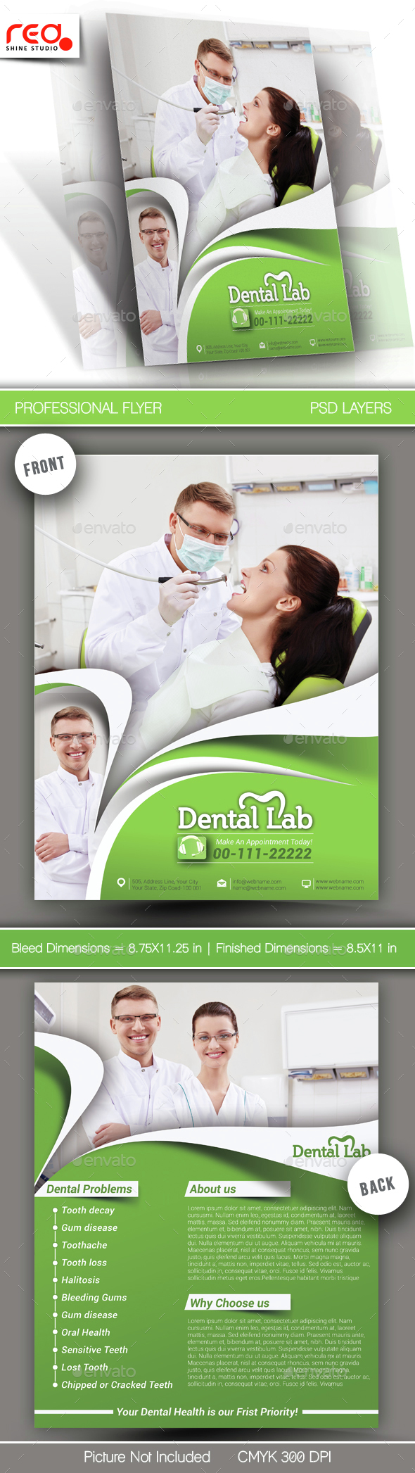 Dental Lab Flyer & Poster Template  - Corporate Flyers