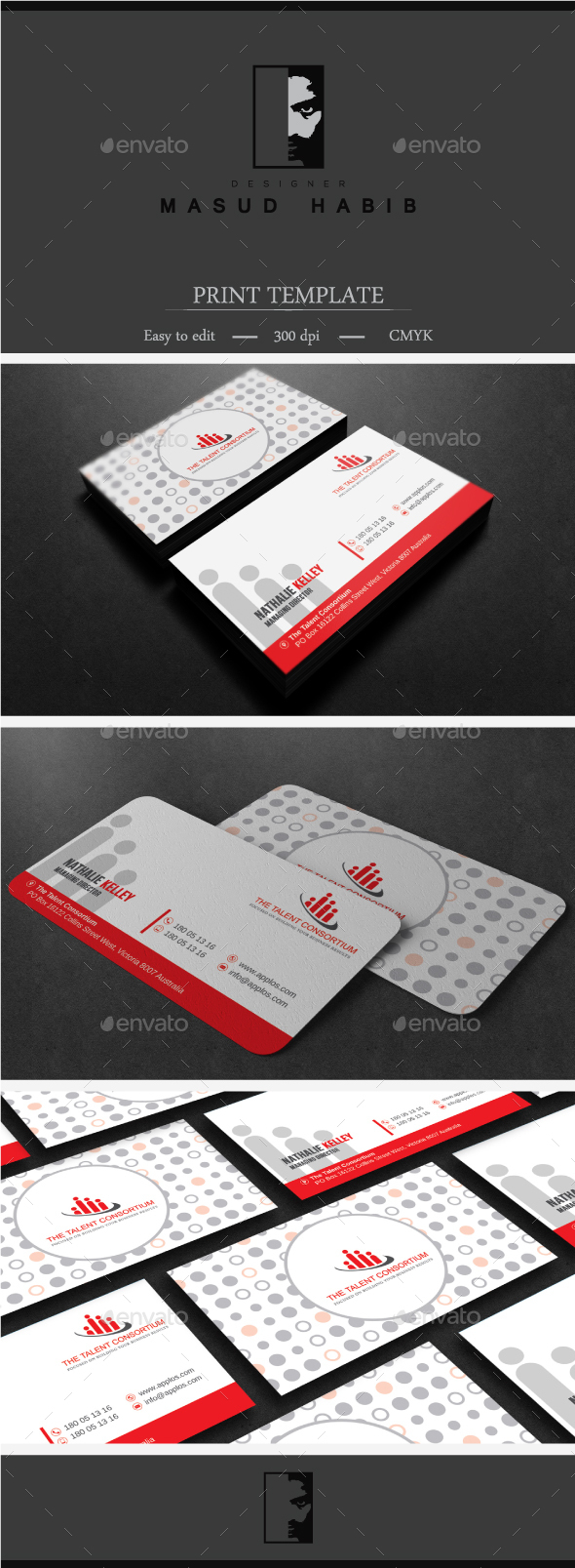 Red Corporate Business Card 01 - Corporate Business Cards