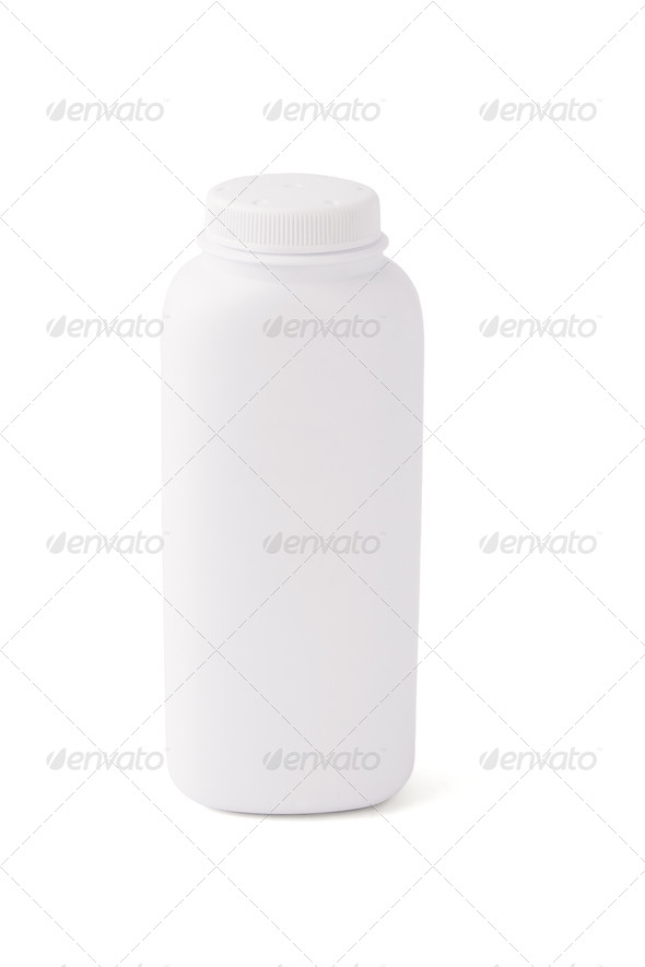 Blank talcum powder container - Stock Photo - Images