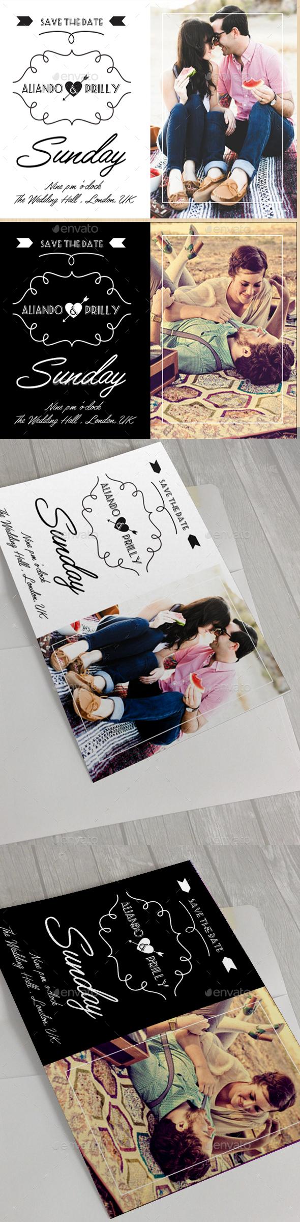 Modern Wedding Card V - Weddings Cards & Invites