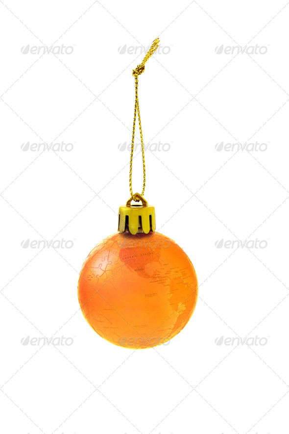 Christmas globe bauble - Stock Photo - Images