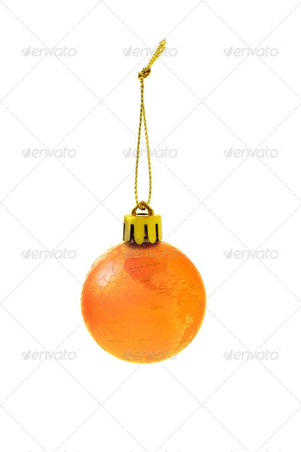 Christmas globe bauble - Stock Photo - Images