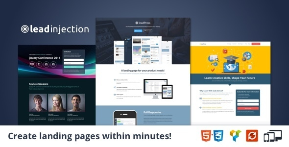 laedinjection – Landing Page Theme