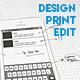 Simple Mobile UI Wireframe Design Kit (Print & Edit) - GraphicRiver Item for Sale