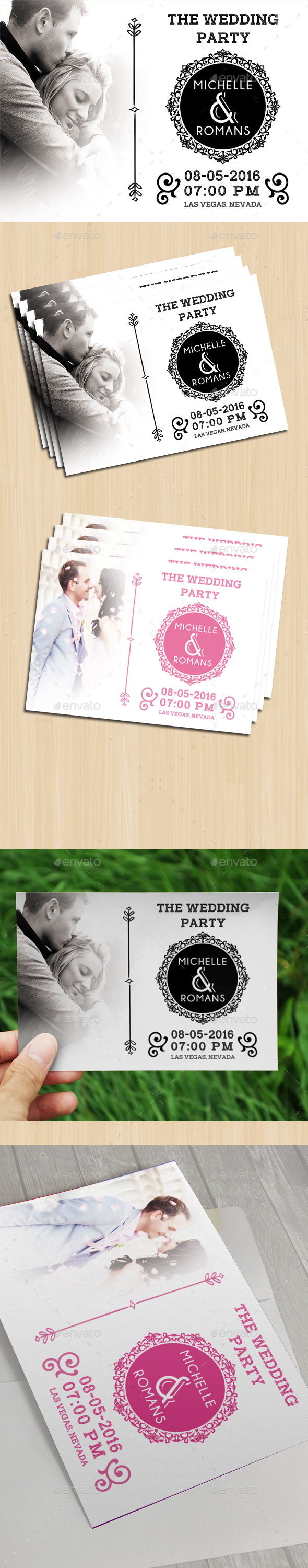 Modern Wedding Card IV - Cards & Invites Print Templates