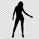 Beautiful Girl Dancing Silhouette - VideoHive Item for Sale