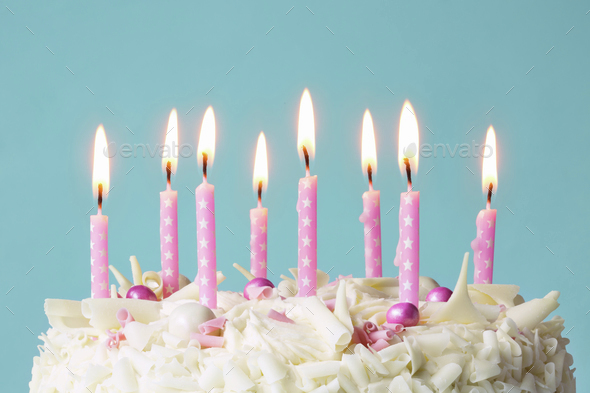 Birthday candles - Stock Photo - Images
