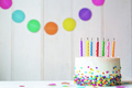 Birthday cake with extinguished candles - PhotoDune Item for Sale